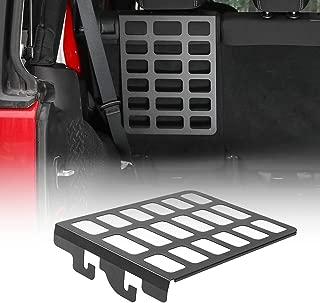 CheroCar JK Metal Storage Rack Shelf Rear Seat Trunk Organizer for Jeep Wrangler 2007-2018 JK JKU Interior Accessories, Black, 1PC