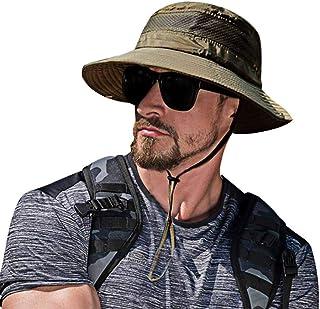 SIYWINA Solhatt för män brett brätte strandhatt UV-skydd safari hatt fiskehatt vikbar fiskehatt utomhus vikbar fiskehatt m...