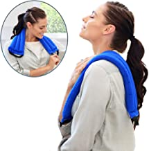 My Heating Pad Microwavable Multi Purpose Wrap for Neck and Shoulders, Back, Joints, and Menstrual Cramps Pain Relief   Neck Warmer Microwavable Compress for Sore Muscles and Aches - Blue