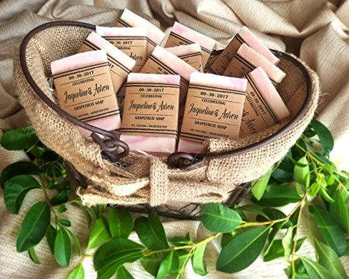 Soap Wedding Favors Personalized, Rustic Wedding Favors For Guests, Set of 10, Soap Favors For Bridal Shower