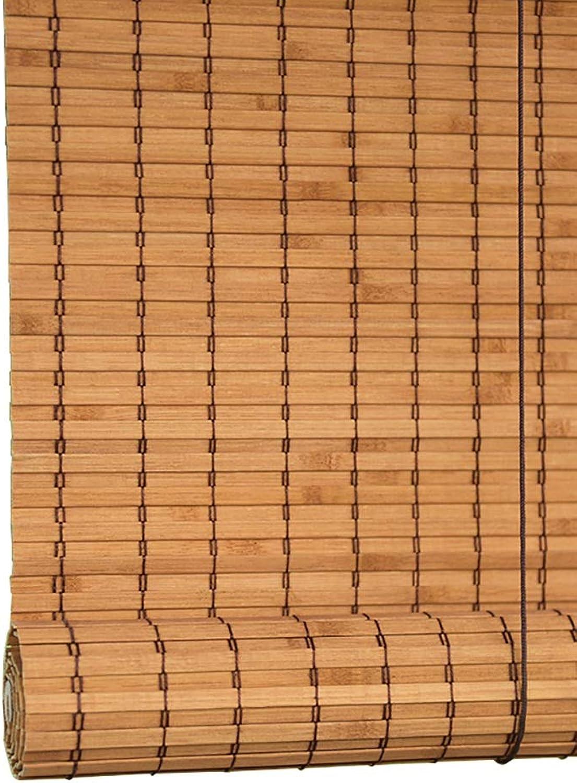 a la venta Persiana enrollable Cortina de Bambu Bambú para para para Ventana Puerta, Sombras De Filtrado De Luz Privacy Drape- Color Amarillo Jengibre (Color   Wave Curtain, Tamao   60x160cm)  con 60% de descuento