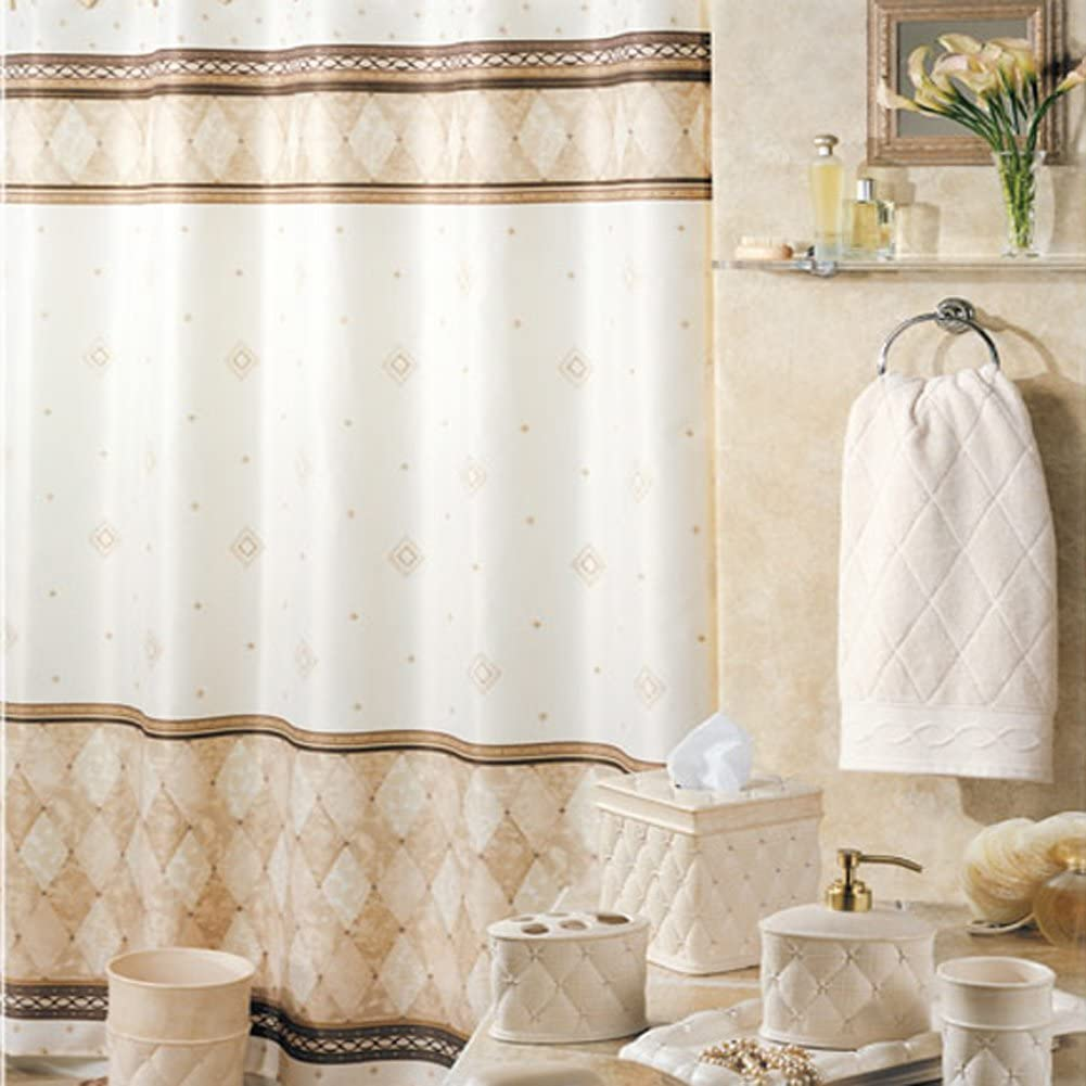 DS BATH Ranking TOP13 Corinthia Beige Shower C Fabric Polyester Cheap mail order sales Curtain