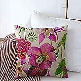 Suo Long Kissenbezüge Strand Rosa Tropische Blumen Blätter Natur Hellebore Afrika Botanical Brazil Bud Columbine Kissenbezug