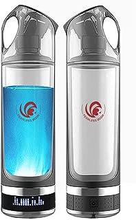 FEARLESSBOOM Healthy Anti-Aging Hydrogen Rich Water Bottle Generator LED Display Alkaline Water Maker Ionizer Water Bottle (Black)