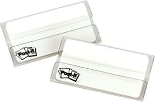 Post-it Tabs, 3 in, Solid, White, Durable, Writable, Repositionable, Great for Binders, Planners, and Notebooks, 25 Tabs/On-The-Go Dispenser, 2 Dispensers/Pack, (686F-50WH3IN)