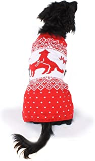 Tipsy Elves Dog Ugly Christmas Sweater - Funny Tacky Xmas Sweater for Big & Small Dogs