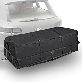 Expandable Nylon 54-1//2 in Truck Cargo Hitch Carrier Protect Cover for Luggage