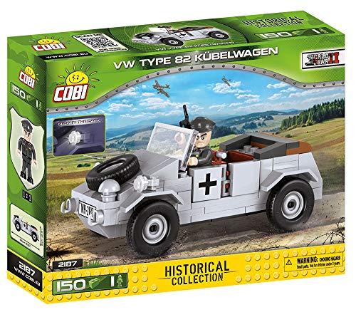 COBI- Jeux de Construction-Volkswagen Kübelwagen Typ 82, 2187, Gris