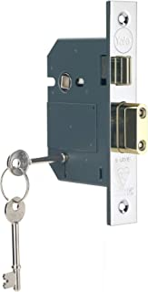 Yale B-BSSL-3.0-CH British Standard 5 Lever Mortice Sashlock, Boxed, Suitable for External Doors, Chrome Finish, 3 Inch/76 mm
