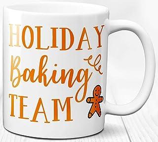 Taza de café Regalo lindo de las vacaciones del tema de los amantes de los panaderos Taza de cerámica de 330 ml
