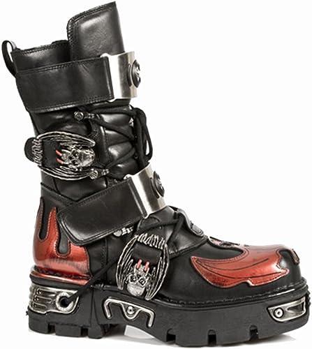 compras en linea New Rock - - - botas de cuero para mujer rojo rojo  sin mínimo
