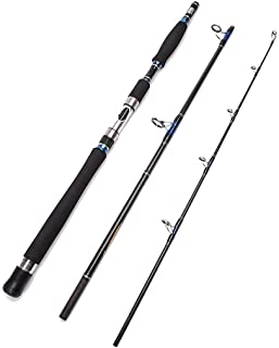 Entsport E Series - Conqueror 3-Piece Spinning Rod Portable Graphite Spinning Fishing Rod Heavy Fishing Rod Spin (30-50 Lb...