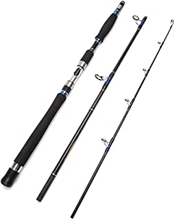 Entsport E Series - Conqueror 3-Piece Spinning Rod Portable Graphite Spinning Fishing Rod Heavy Fishing Rod Spin (30-50 Lbs, 1 Year Limited Warranty)