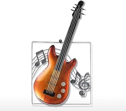 Tooarts Guitarra Ornamento Colgante Decoración del Hogar Decoración de las Cortinas de Pared Instrumento Musical Regalo