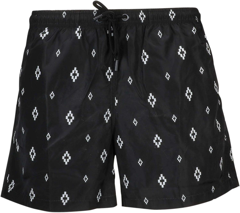 MARCELO BURLON Men's CMFA003R199541321001 Black Polyester Trunks