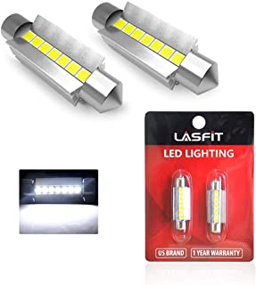 LASFIT 42MM 211-2 578 212-2 LED Dome Map Trunk License Plate Light Bulb, 6000K White Light (2pcs)