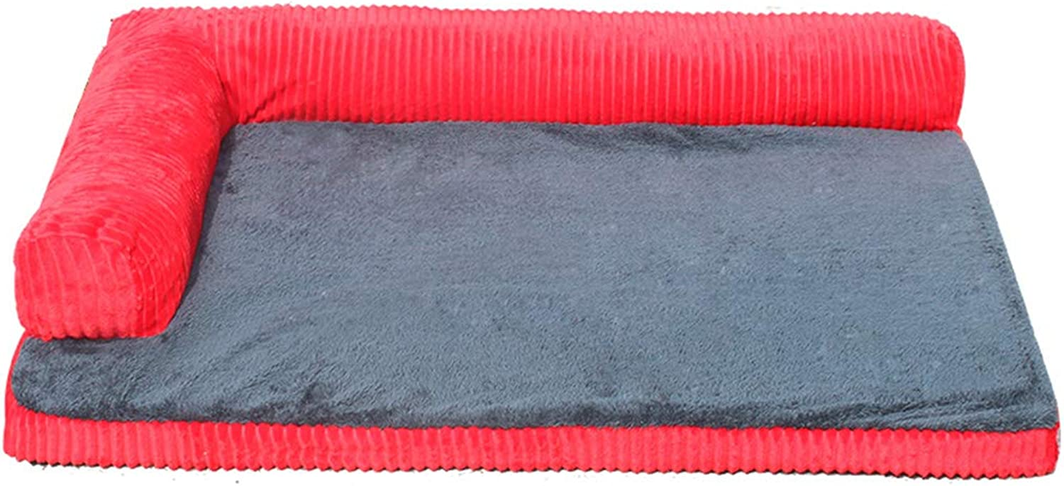 Qz Dog Bed for Small Dogs, Durable Indestructible Washable Removable Puppy Kennel Beds for Doggie Doggy (color   RED, Size   100×90cm)