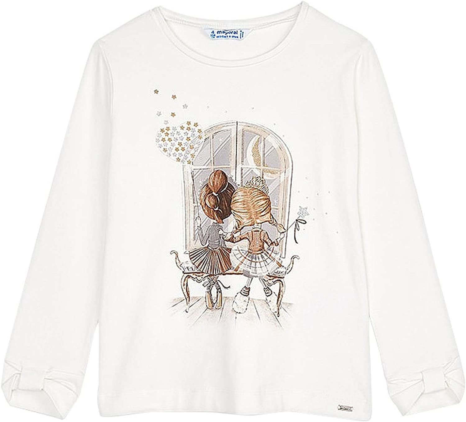 Mayoral - L/s t-Shirt for Girls - 4067, Gray