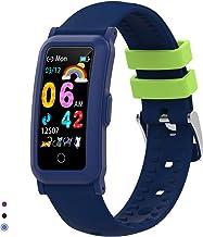 BingoFit Fitnessarmband horloge voor kinderen, fitnesstracker smartwatch met bloeddrukmeter en slaapmonitor, waterdicht, s...