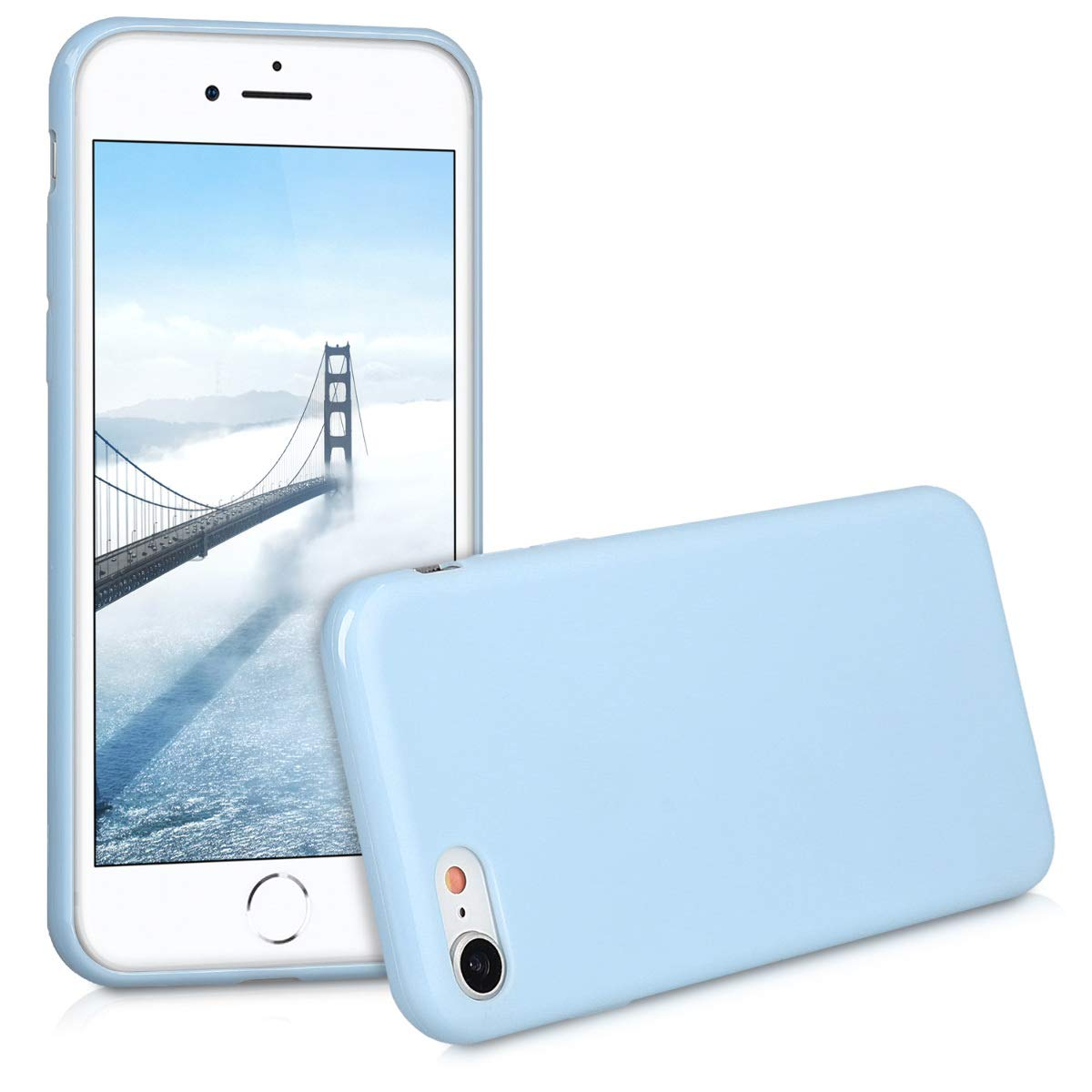 coque iphone 7 silicone bleu marine