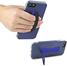 Gear Beast Cell Phone Grip Stand, Universal Phone Strap Finger Holder with Pop Out Kickstand for Men and Women, Ultra Slim Pocket Friendly - Blue