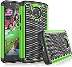 Tekcoo Moto E4 Plus Case, Tekcoo 2017 Motorola Moto E Plus 4th Generation Cute Case, [Tmajor] Shock Absorbing [Green] Rubber Silicone & Plastic Scratch Resistant Bumper Grip Rugged Hard Cases Cover