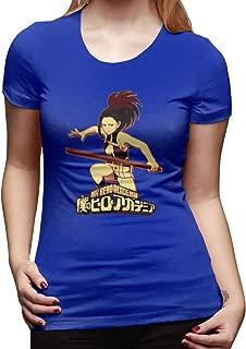 UXUEYING My Hero Academia Boku No Hero Momo Yaoyorozu T-Shirt Blouses Women Short Sleeve Tops