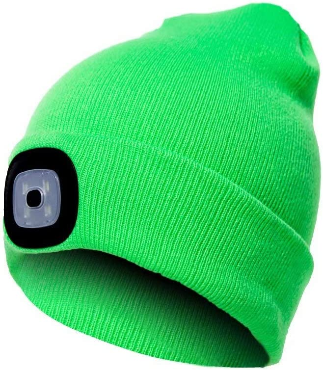 supreme PRAVETTE Upgraded LED Lighted Beanie Rechargeable USB 2021 autumn and winter new Hand-F Hat