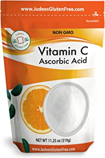 Judee's Pure Vitamin C Powder 11.25 Oz (24 Oz Also) (L - Ascorbic Acid) - Immune Support & Antioxidant Supplement - No Fil...