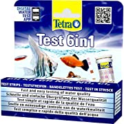 Tetra Test 6in1 Wassertest, für das Aquarium, schnelle und einfache Überprüfung der Wasserqualität, 1 Dose (25 Stk.)