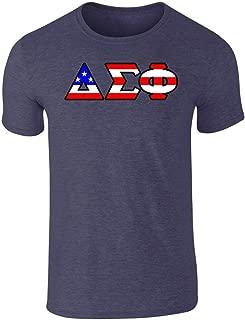 Fashion Greek Delta Sigma Phi American Flag T Shirt