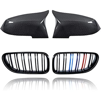 JMY Front Replacement Kidney Grille Grill for BMW 6 Series F06 F12 F13 Glossy Black ABS