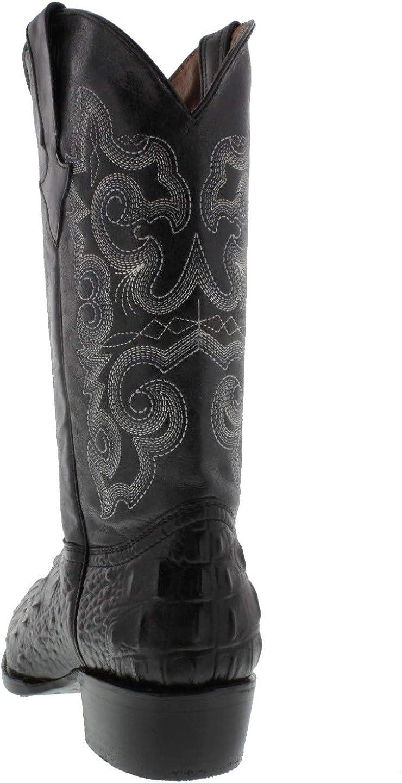 Mens Cognac Crocodile Print Leather Cowboy Boots J Toe Texas Legacy