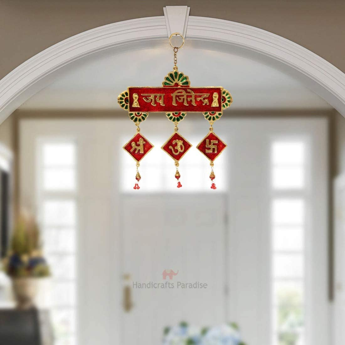 New NEW popularity HANDICRAFTS PARADISE Hanging With Engraved Jinendra Jai