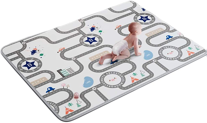 HLMIN Doppelseitig Baby-Krabbelteppich Spielmatte FeuchtigkeitsBestendig Weich Hoher Dichtestandard Ungiftig Top Qualitt Super Dick (Farbe   A, gre   150cmx180cmx2cm)