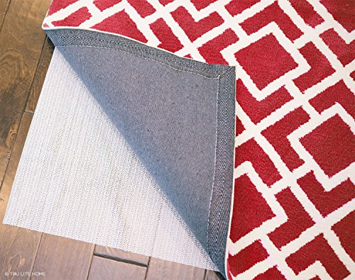 TRU Lite Rug Gripper - Non-Slip Rug Pad for Hardwood Floors - Non Skid Washable Furniture Pad - Lock Area Rugs, Mats, Carpets, Furniture in Place - Trim to fit Any Size - 8