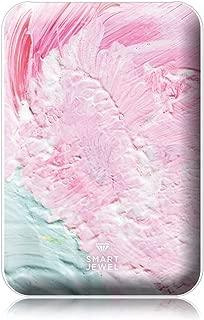 [SMART JEWEL] 【Ice cake】 モバイルバッテリー 軽量 小型 薄型 かわいい おしゃれ コンパクト 5000mAh 女子用 急速充電 2台同時充電 PSE認証取得済み iPhone ipad対応 iQos対応 SSC5-PN3-WH_zp