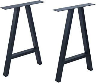 MBQQ 家具脚 高さ28インチ 幅17.5インチ 素朴な装飾A形状テーブル脚 高耐久メタルデスク脚 ダイニングテーブル脚 工業モダン DIY鋳鉄ベンチ脚 (2個)