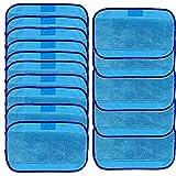 Tonsee Panni per pulizia, 15pezzi, per uso da bagnato con iRobot Braava 380 380t 320 Minze 4200 4205