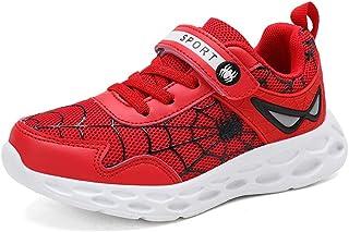 Malltea Zapatillas de piel impermeables para niños y niñas, diseño de Spiderman