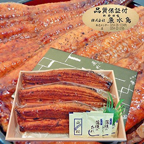 父の日ギフト 土用丑の日 魚水島 鰻うなぎ蒲焼き ふっくらとろける極旨ウナギ 約30cm特々大 約200g×3尾 品質保証シール付