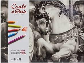 Conté à Paris Pastel Pencils with 48 Assorted Colors