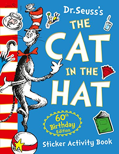 The cat in the hat. 60th birthday sticker activity book