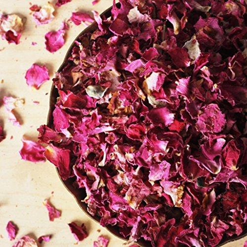 EcoDepotiN ~ Dried Rose Petals, Rose Petals Tea Organic Herbal, Floral Bud, Caffeine Free (50g)