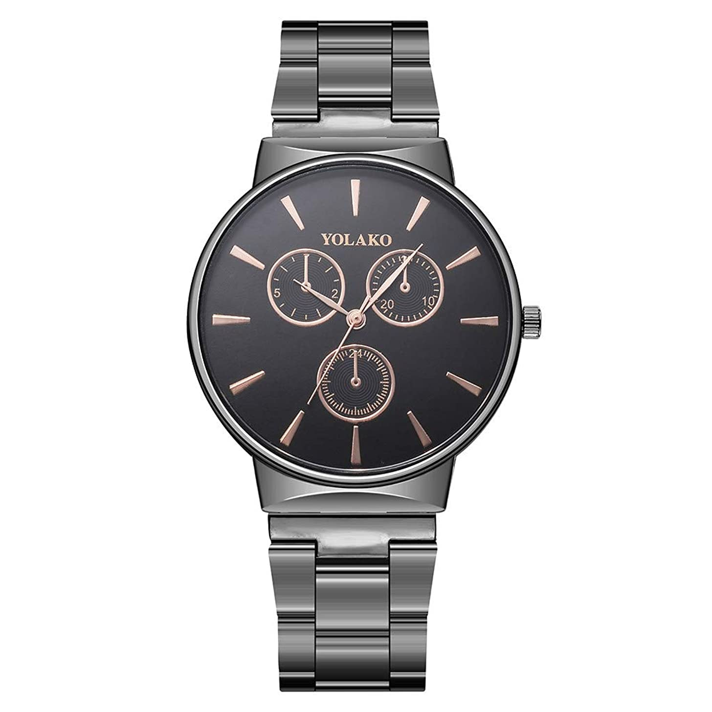 Fashion Men's Watch Quartz Stainless Steel Band New Strap Analog Wristwatch 2019 Spring Deals!Valentine's Day Present