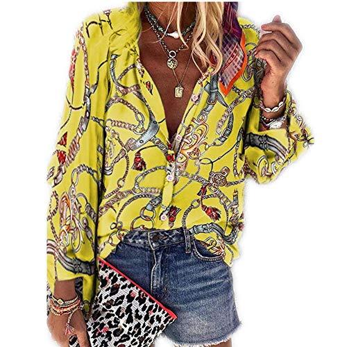 Herbstlicher Damen-Stil Mit Neuem Aufdruck Und Stehkragen Langarm-Casual-Fashion-Shirt