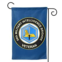 US Army 66th Military Intelligence Brigade Veteran Garden Flag Vertical Double Sided for Yard Home 12.5 X 18 Inch,28 X 40 Inch