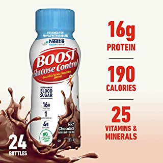 Boost Glucose Control Nutritional Drink, Chocolate Sensation, 8 Fl Oz (Pack of 24) (Packaging May Vary)