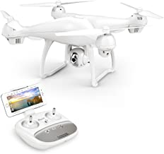 Potensic T35 GPS Drone, RC Quadcopter with 1080P Camera FPV Live Video,Dual GPS Return Home,Follow Me, Altitude Hold, 2500mAh Battery Long Control Range, White