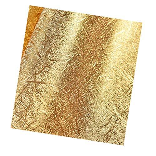 Baoblaze Gold Klebefolie Selbstklebefolie Folie Hochglanz, Größe: 10m x 53cm